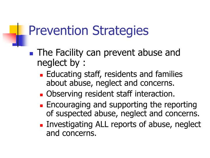 prevention strategies n.