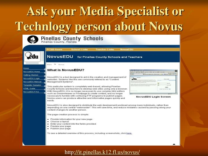 Ask your Media Specialist or