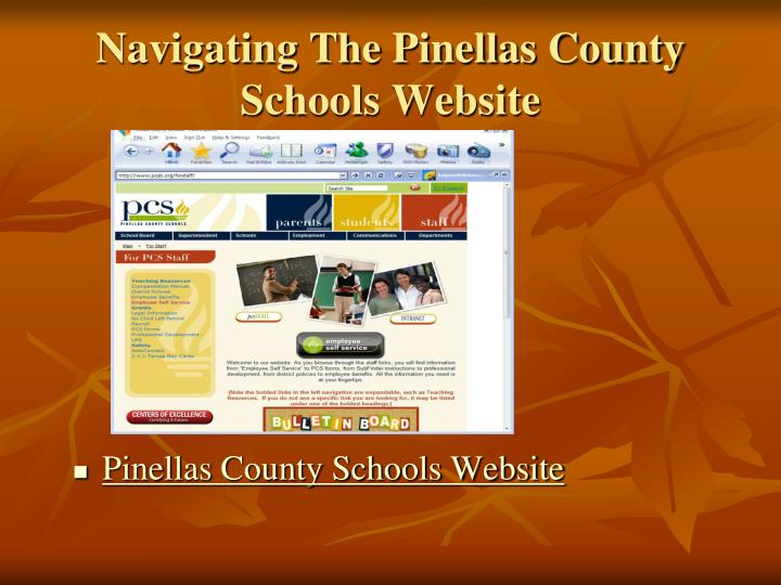 Navigating The Pinellas County Schools Website