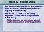 module 12 potential output
