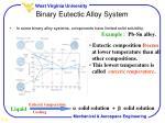 binary eutectic alloy system