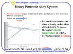 binary peritectic alloy system