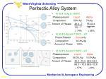 peritectic alloy system