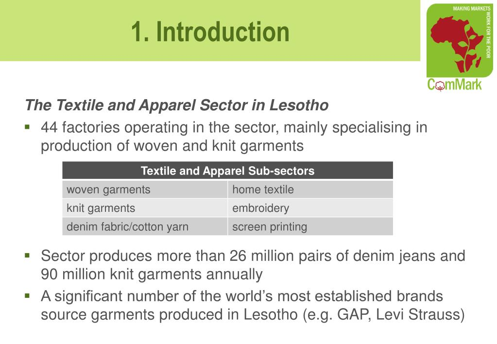 The Textile and Apparel Sector in Lesotho