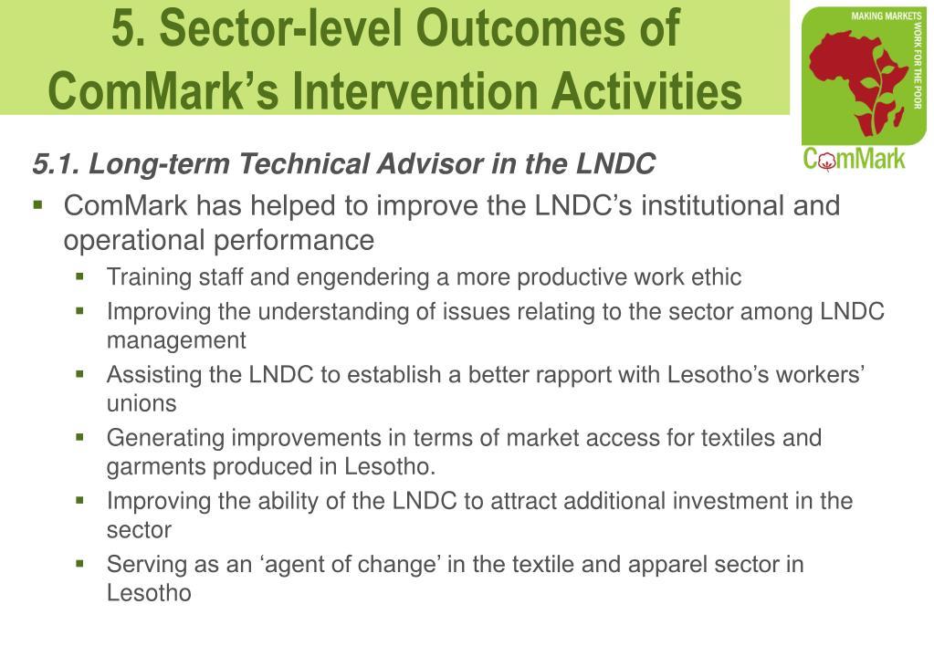 5.1. Long-term Technical Advisor in the LNDC