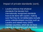 impact of private standards cont