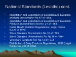 national standards lesotho cont