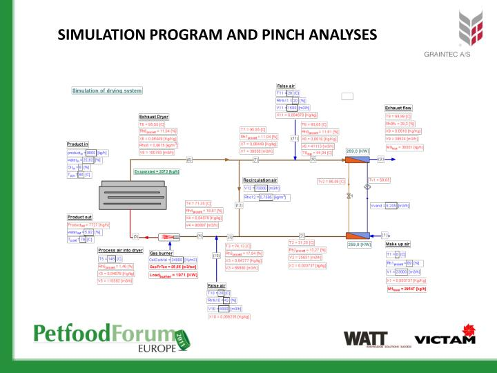 Simulation program and pinch
