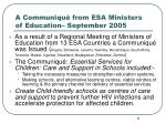 a communiqu from esa ministers of education september 2005