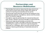 partnerships and resource mobilisation