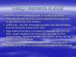 design elements in 2002