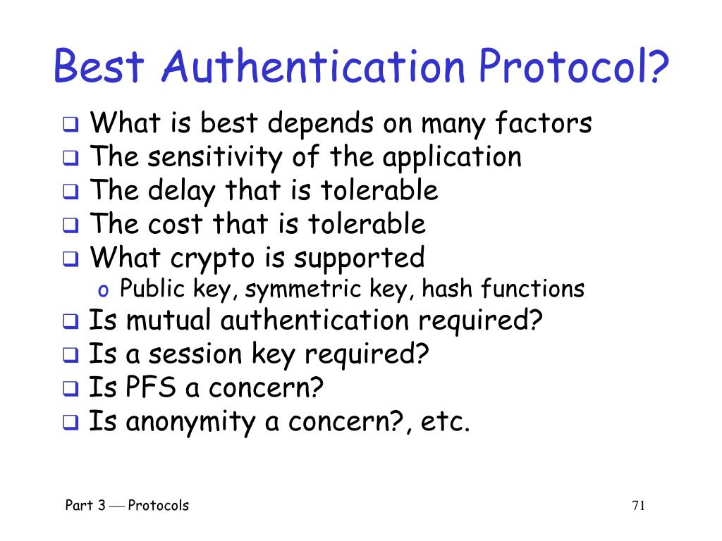 Best Authentication Protocol?