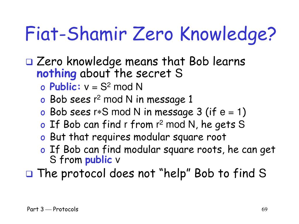 Fiat-Shamir Zero Knowledge?