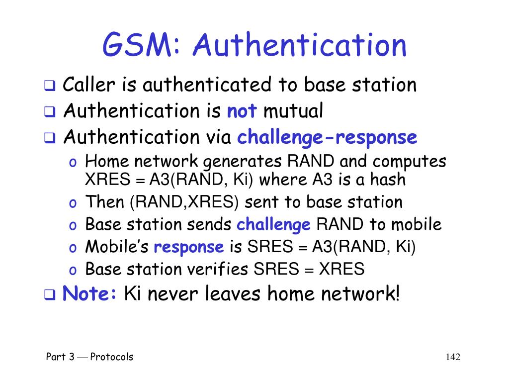 GSM: Authentication