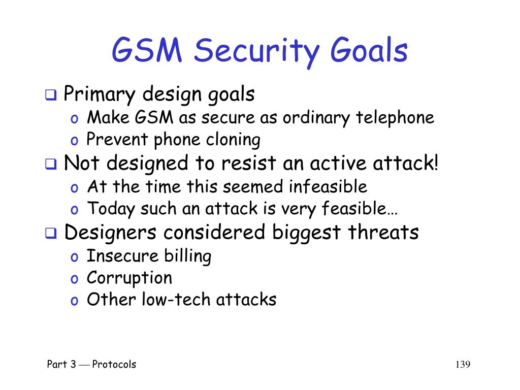 GSM Security Goals