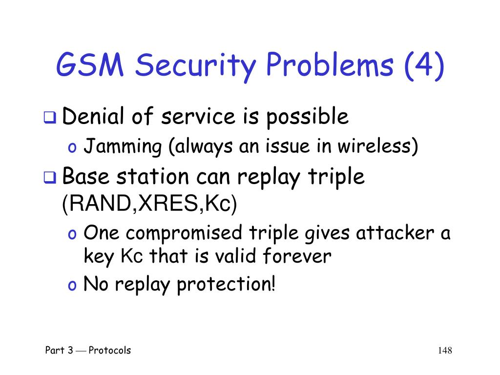 GSM Security Problems (4)