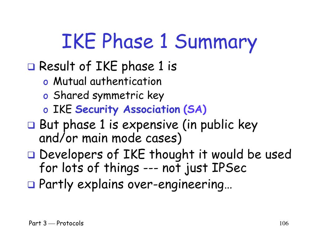 IKE Phase 1 Summary