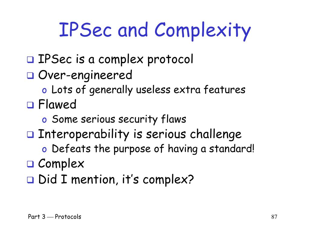 IPSec and Complexity