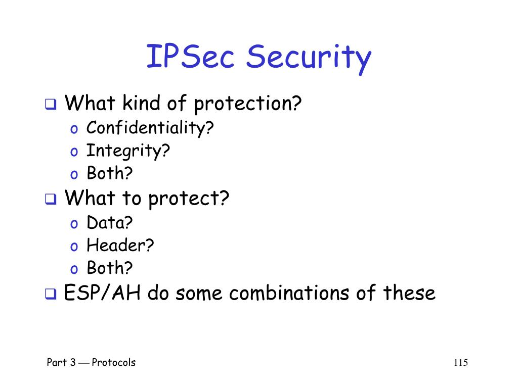 IPSec Security