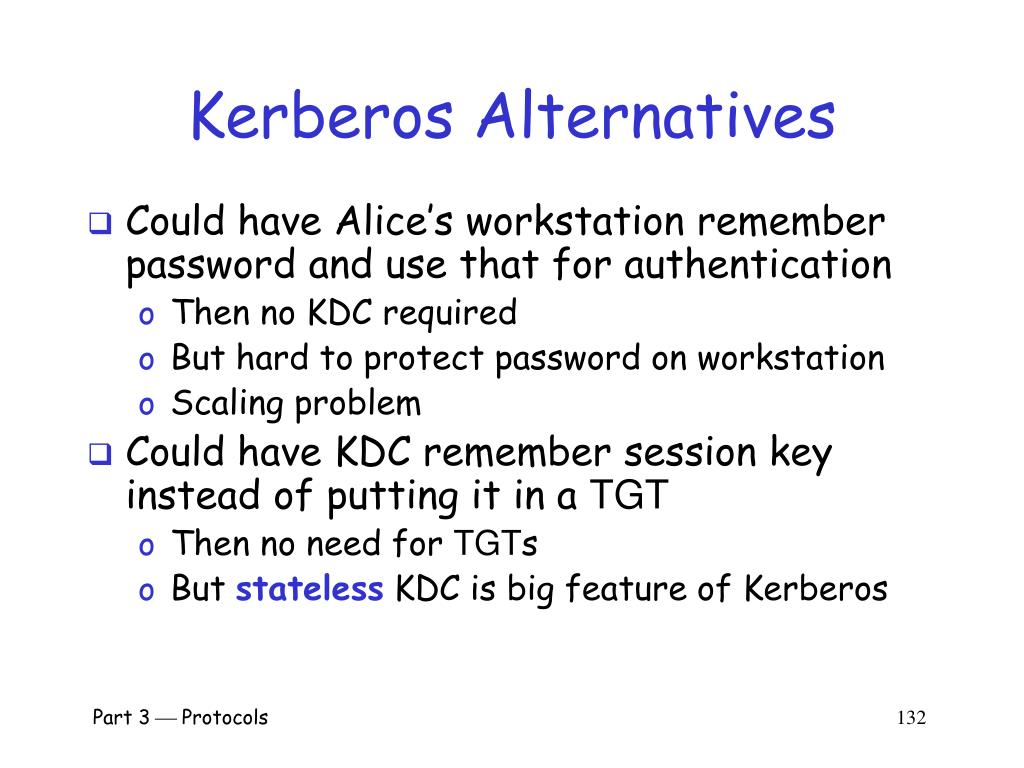 Kerberos Alternatives