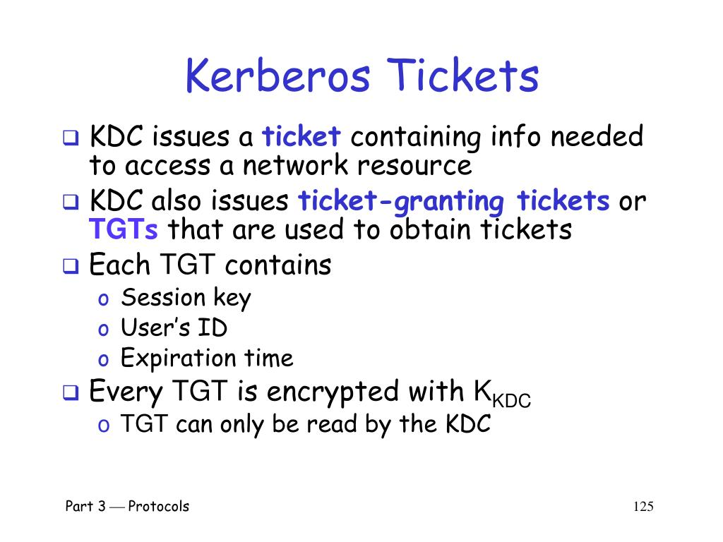 Kerberos Tickets