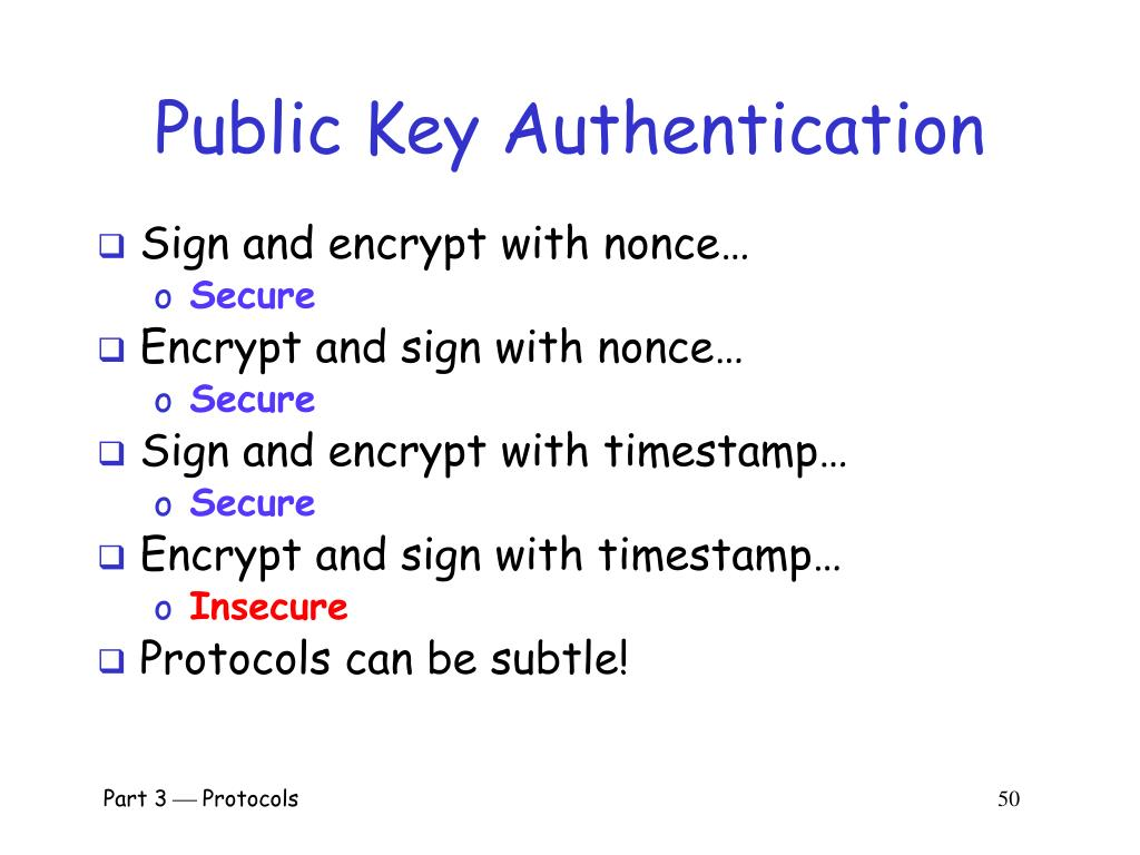 Public Key Authentication