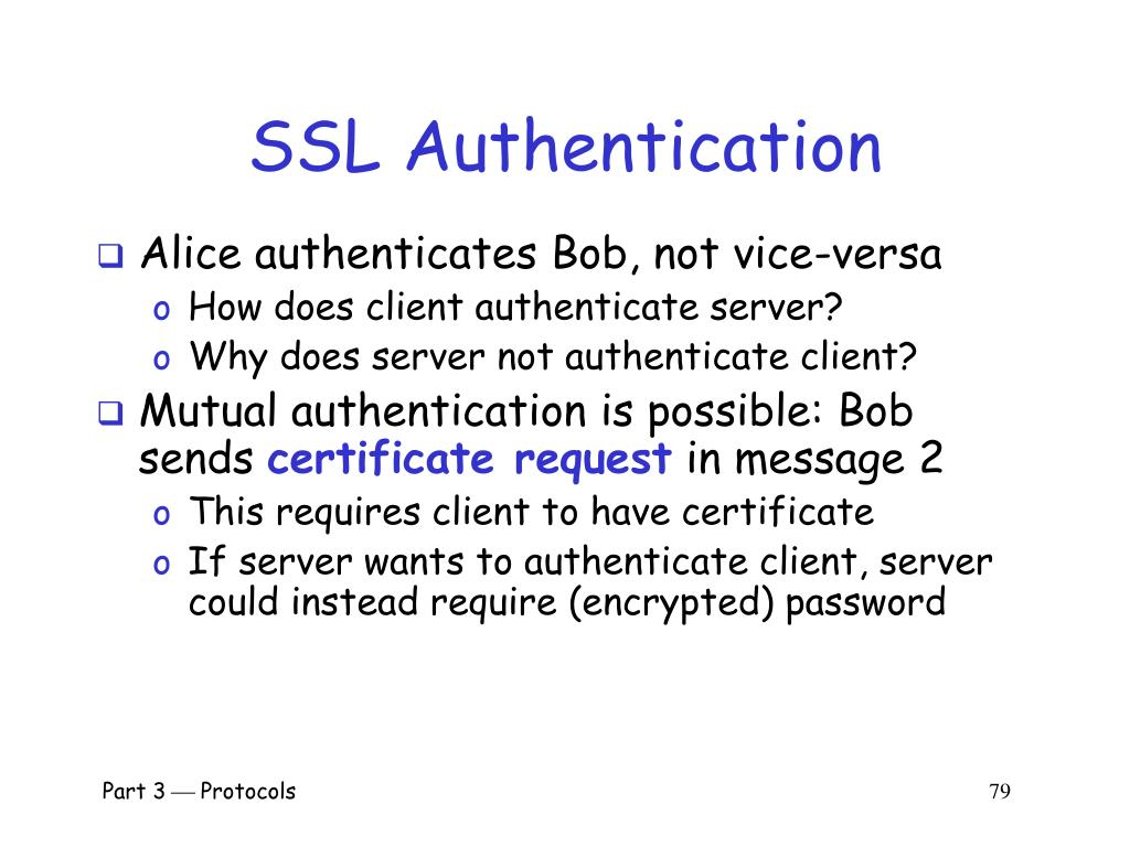 SSL Authentication