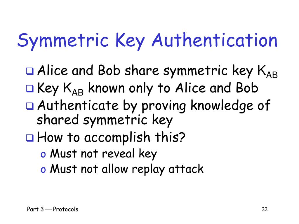 Symmetric Key Authentication