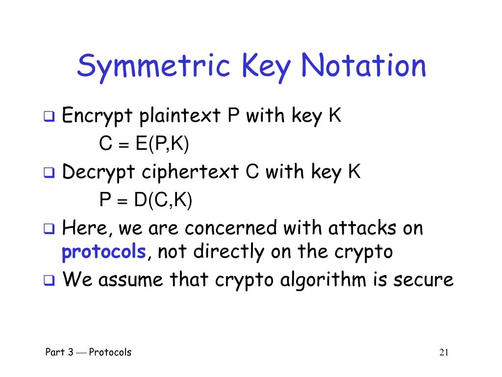 Symmetric Key Notation