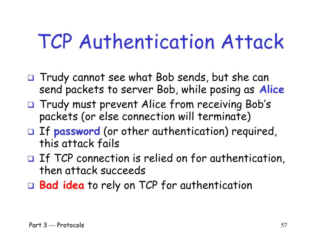 TCP Authentication Attack