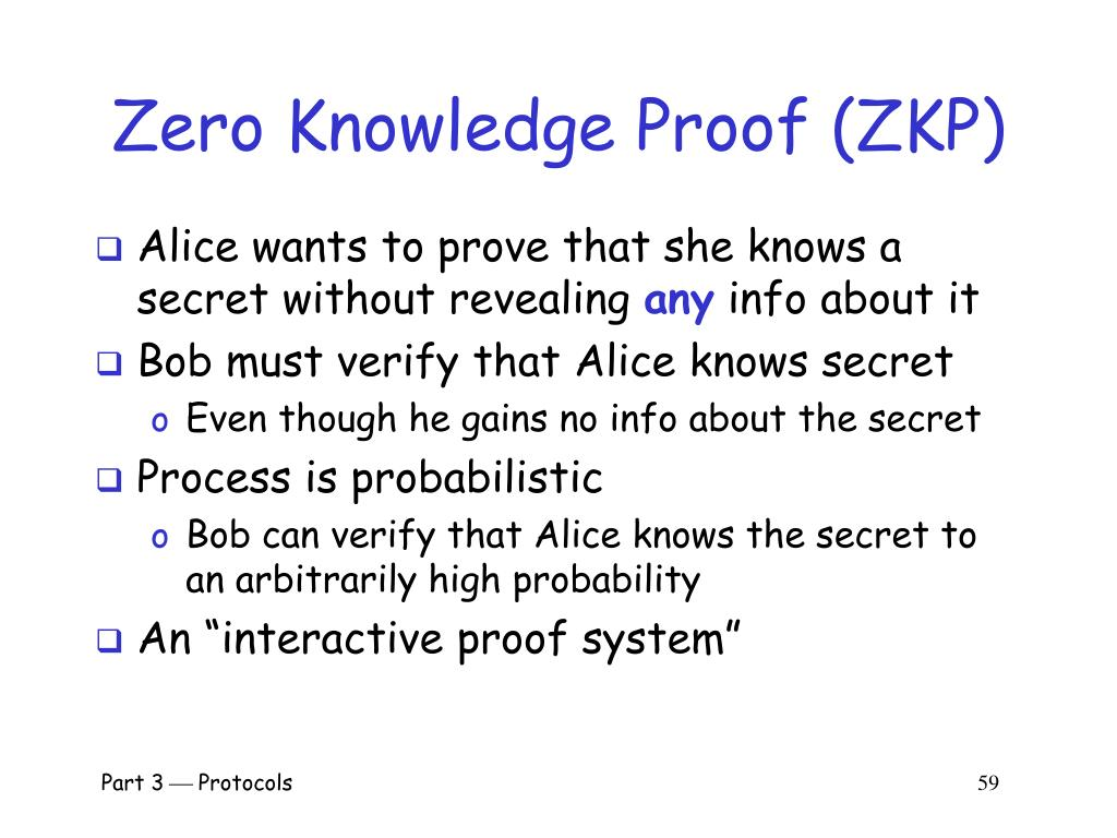 Zero Knowledge Proof (ZKP)