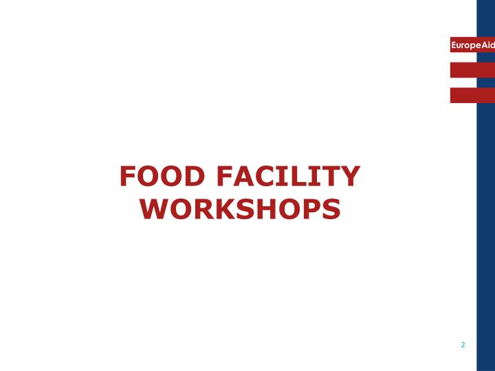 Food facility workshops