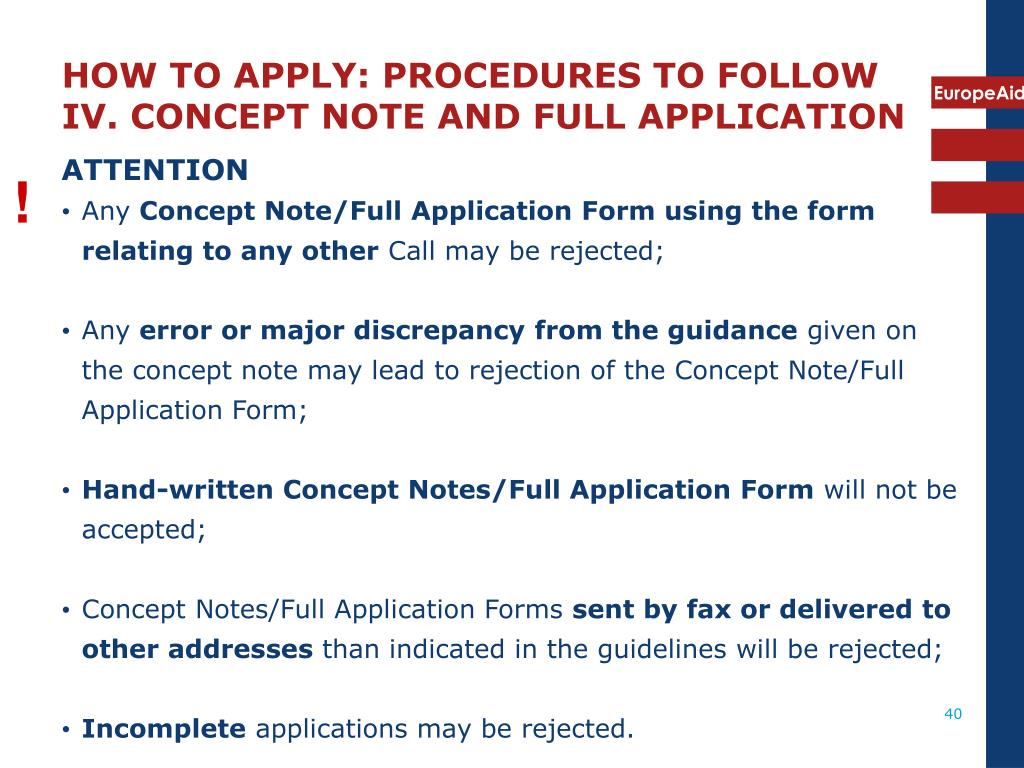 HOW TO APPLY: PROCEDURES TO FOLLOW