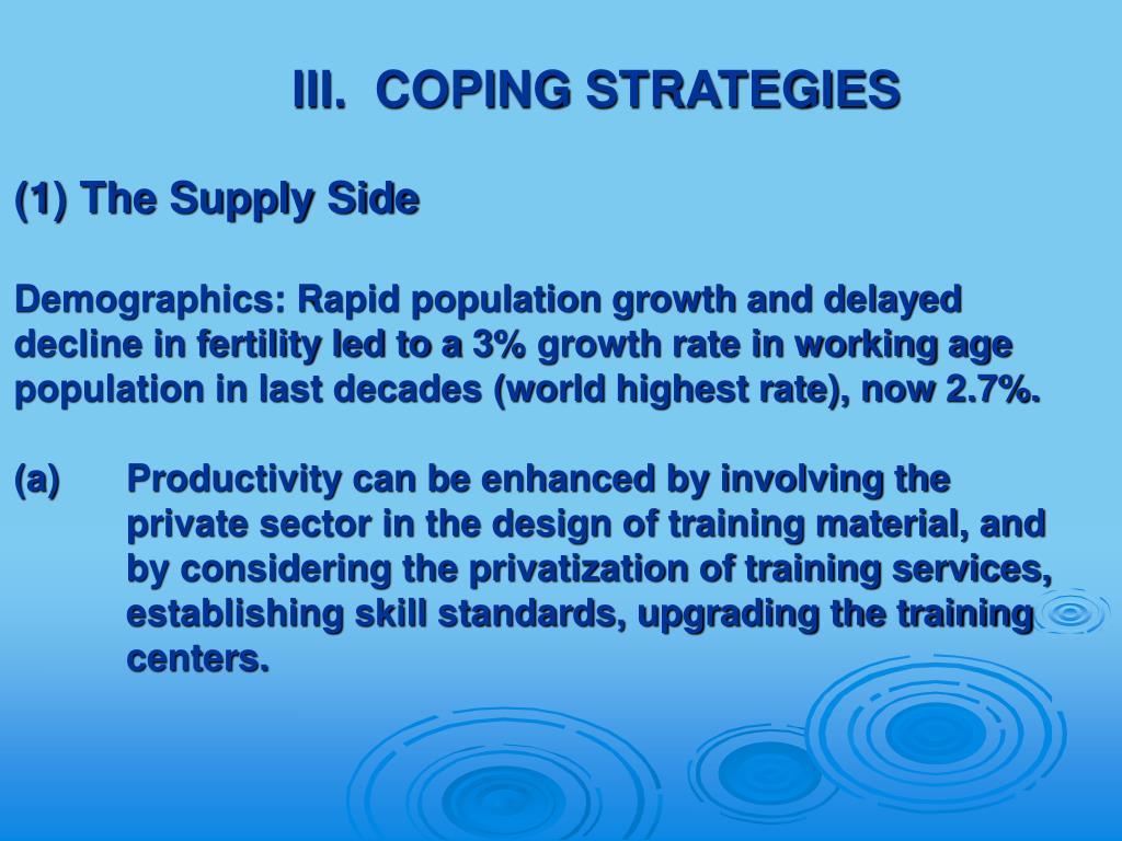III.  COPING STRATEGIES