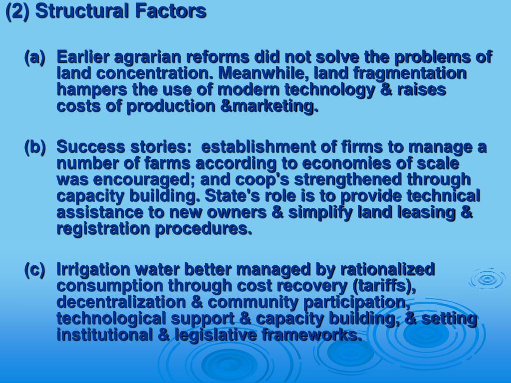 (2) Structural Factors