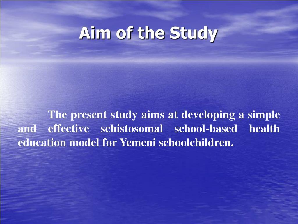 Aim of the Study