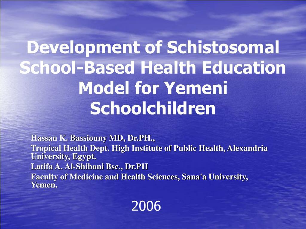 Development of Schistosomal