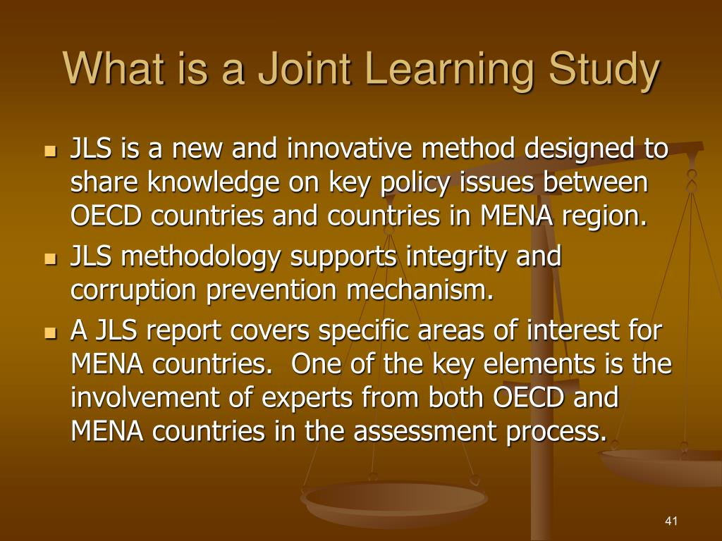 What is a Joint Learning Study
