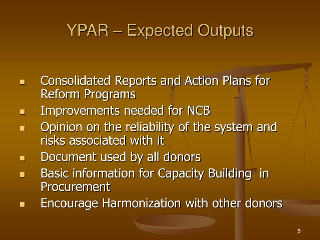YPAR – Expected Outputs