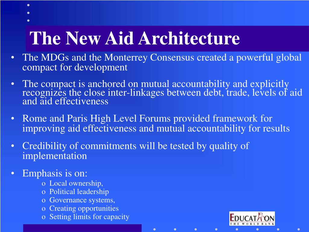 The New Aid Architecture