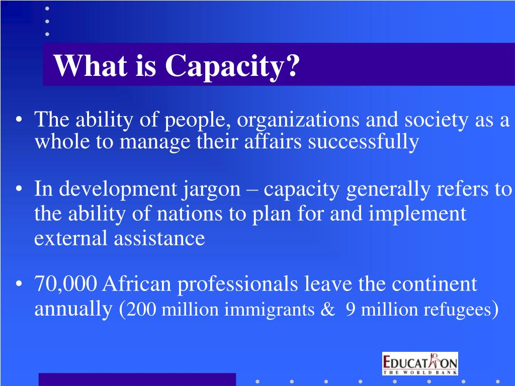 What is Capacity?