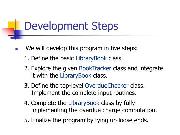 Development Steps