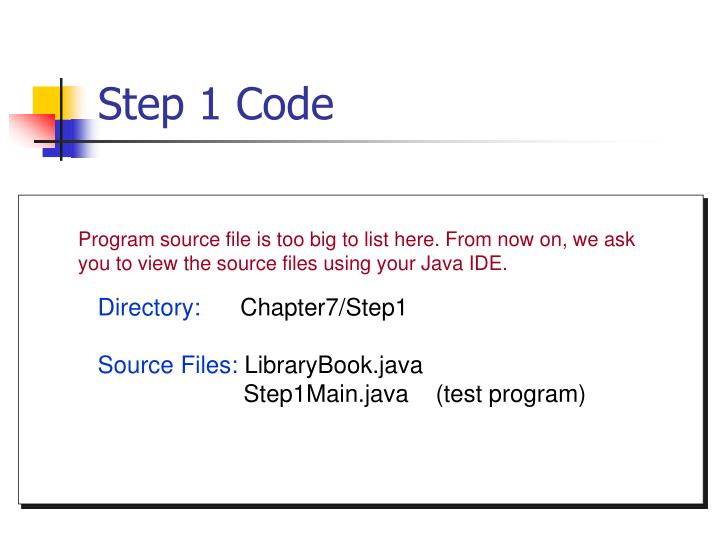 Step 1 Code