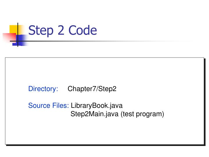 Step 2 Code