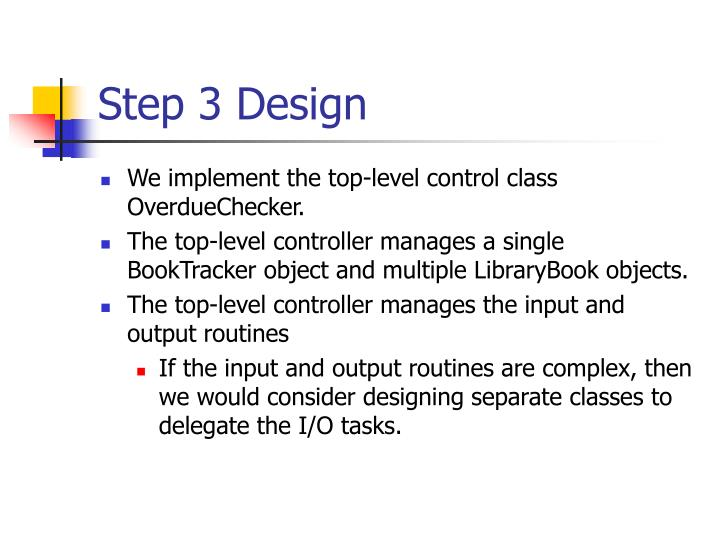 Step 3 Design