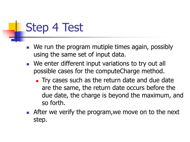 Step 4 Test