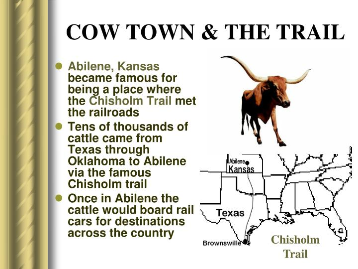 COW TOWN & THE TRAIL