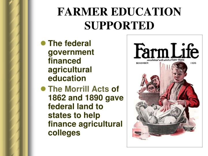 FARMER EDUCATION SUPPORTED