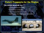 future prospects for the region