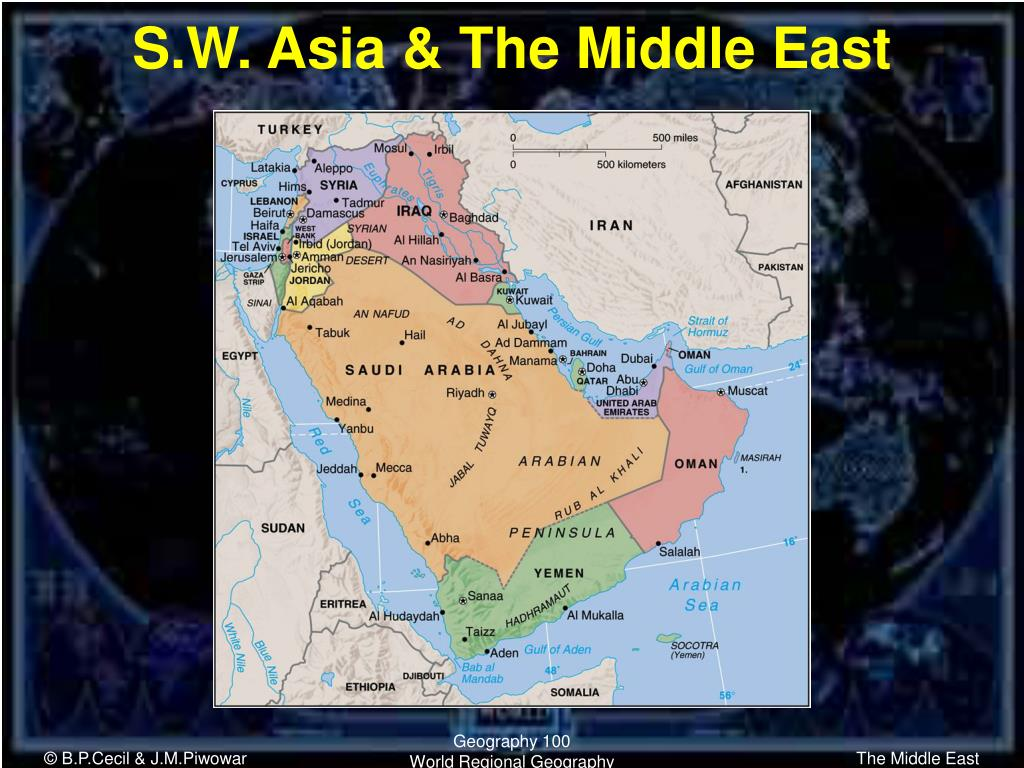 s w asia the middle east l.